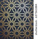 islamic arabic background. gold ... | Shutterstock .eps vector #637361884