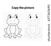 frog  copy the picture  game... | Shutterstock .eps vector #637363690