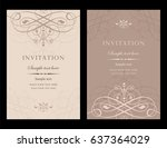 invitation card vector design   ... | Shutterstock .eps vector #637364029