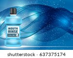 mouth rinse design cosmetics... | Shutterstock . vector #637375174