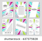 abstract vector layout... | Shutterstock .eps vector #637375828