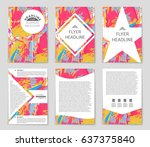 abstract vector layout... | Shutterstock .eps vector #637375840