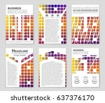 abstract vector layout...   Shutterstock .eps vector #637376170