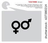 web line icon. gender symbol ... | Shutterstock .eps vector #637380214