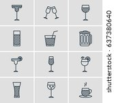 vector illustration of 12... | Shutterstock .eps vector #637380640