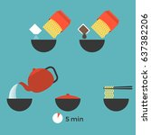 graphic info of prepare instant ... | Shutterstock .eps vector #637382206