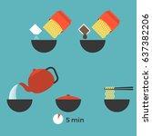 graphic info of prepare instant ...   Shutterstock .eps vector #637382206