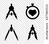 precision icons set. set of 4... | Shutterstock .eps vector #637384513