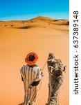 Camel Driver In The Desert...