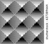 geometric seamless dotted...   Shutterstock .eps vector #637389664