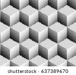 geometric seamless dotted... | Shutterstock .eps vector #637389670