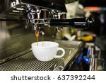 espresso coffee shot from... | Shutterstock . vector #637392244