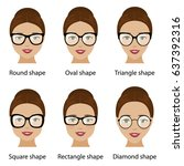 spectacle frames shapes and... | Shutterstock .eps vector #637392316