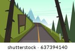 mountain asphalt road | Shutterstock .eps vector #637394140