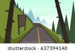 mountain asphalt road | Shutterstock .eps vector #637394140