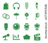 studio icons set. set of 16... | Shutterstock .eps vector #637395508