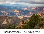 awesome landscape of grand... | Shutterstock . vector #637395790