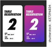 table reservation card ui...