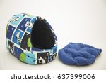 bed  pillow and mattress for... | Shutterstock . vector #637399006