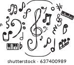 Hand Drawn Music Symbol Vector