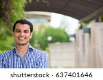 closeup headshot portrait ... | Shutterstock . vector #637401646