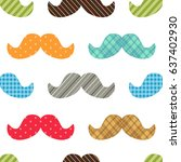 cute seamless pattern to make... | Shutterstock .eps vector #637402930