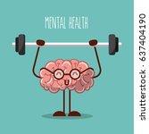mental health brain lifting... | Shutterstock .eps vector #637404190