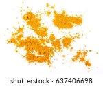 turmeric  curcuma  powder... | Shutterstock . vector #637406698
