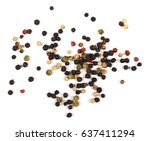 colored pepper isolated on...   Shutterstock . vector #637411294