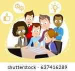 cartoon vector illustration of... | Shutterstock .eps vector #637416289