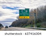 road indicator plates in new... | Shutterstock . vector #637416304
