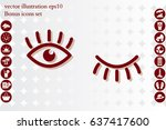 eyes and eyelashes icon vector... | Shutterstock .eps vector #637417600