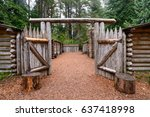 open gate at lewis and clark... | Shutterstock . vector #637418998