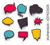 sale banner. abstract creative... | Shutterstock .eps vector #637421020