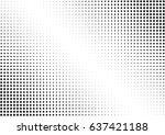 abstract halftone dotted... | Shutterstock .eps vector #637421188