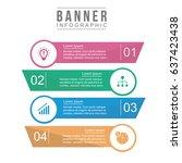 banner infographic design... | Shutterstock .eps vector #637423438