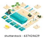 isometric cartoon vector people ...   Shutterstock .eps vector #637424629