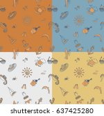 four background in different... | Shutterstock .eps vector #637425280