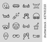 glasses icons set. set of 16... | Shutterstock .eps vector #637431310