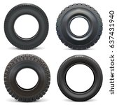 vector rubber tires | Shutterstock .eps vector #637431940