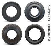 vector rubber tires | Shutterstock .eps vector #637431940