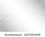 abstract halftone dotted... | Shutterstock .eps vector #637441444