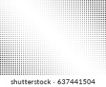 abstract halftone dotted... | Shutterstock .eps vector #637441504
