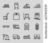 freight icons set. set of 16...   Shutterstock .eps vector #637443559