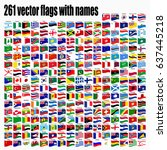 flags of the world  round icons ... | Shutterstock .eps vector #637445218
