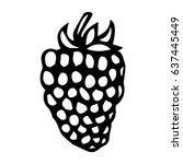 blackberry doodle style vector...   Shutterstock .eps vector #637445449