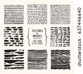 hand drawn textures   brush... | Shutterstock .eps vector #637446640