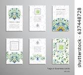 set of six vertical business...   Shutterstock .eps vector #637448728
