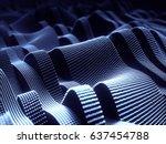 3d illustration. abstract... | Shutterstock . vector #637454788