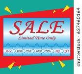 sale poster. week special offer ... | Shutterstock .eps vector #637460164